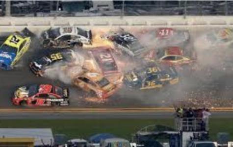 Crash during NASCAR race