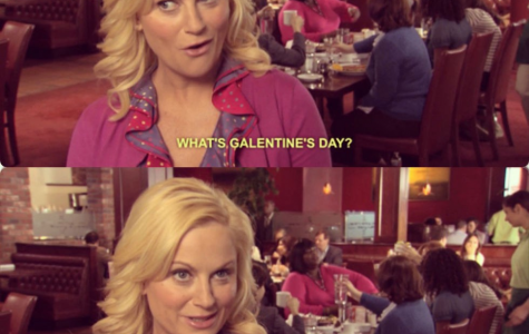 Leslie Knope, Amy Poehler's character from <i>Parks and Recreation</i>, discusses Galentine's Day. Photo courtesy of geekgirlcon.com.