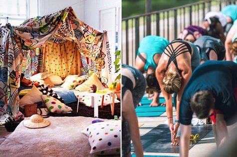 This photo is provided by rojakdaily.com. In the photo above, families and singles are finding ways to keep the sanity by building forts or exercise. These things help change our environment and make it a more fun place to be.