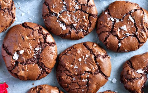 Finished product of the salted brownie cookies. Photo courtesy of Tutti Dolci.