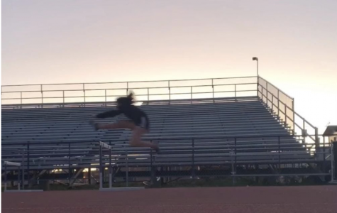 Cassandra Quintero, a senior who joined track and does hurdles. Photo courtesy of Cassandra Quintero.