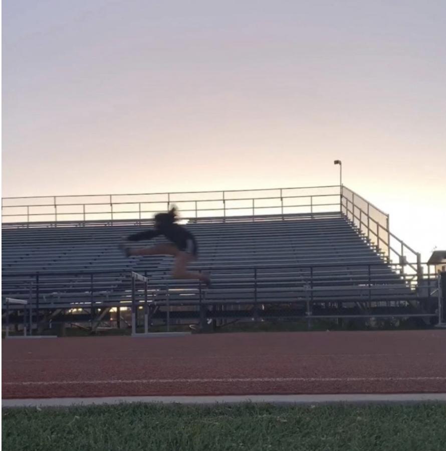 Cassandra+Quintero%2C+a+senior+who+joined+track+and+does+hurdles.+Photo+courtesy+of+Cassandra+Quintero.