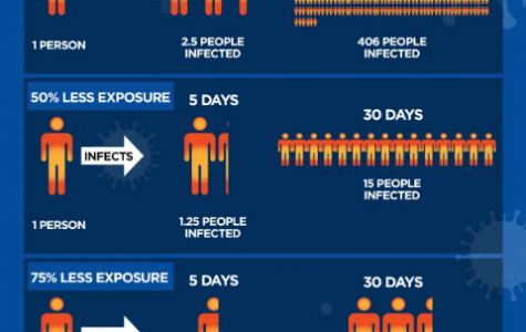 An infographic explaining why social distancing is so important. These beloved events were canceled because social distancing must be practiced. Photo courtesy of globalnews.ca.