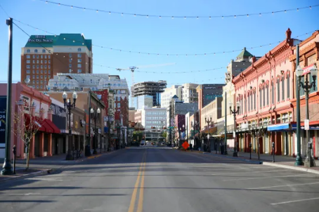 The once lively streets of El Paso have been emptied of people because of the shelter-in-place order issued by El Paso Mayor Dee Margo on March 24. Staying safe and staying home is essential for stopping the coronavirus from spreading in our communities. Photo courtesy of the <i>El Paso Times</i>.
