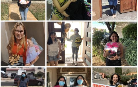 This year's Ring Rose came in the form of gift-giving. Seniors and juniors practiced social distancing along the way. Photos courtesy of Lauren Barajas, Mia Hernandez, Melani Saldana, Anamarie Cordova, Celeste Hirschi, Diana, and Iliana Moreno.