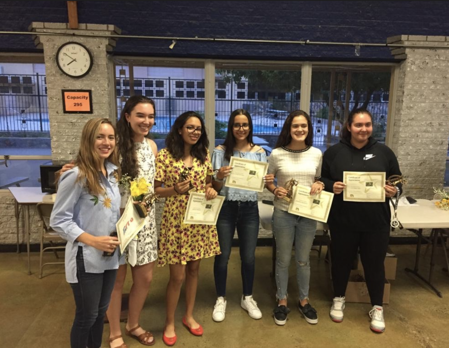 Last+year%27s+tennis+team+smiling+at+the+sports+banquet+in+2019.+The+sports+banquet+was+one+of+the+many+activities+that+were+canceled+as+well.+Photo+courtesy+of+Victoria+Chiu.